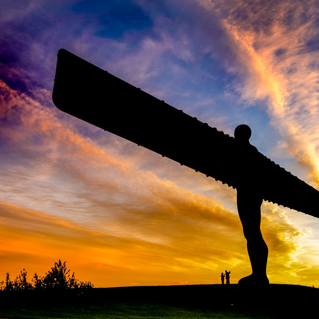 """""""The Angel of the North"""" stock image"""