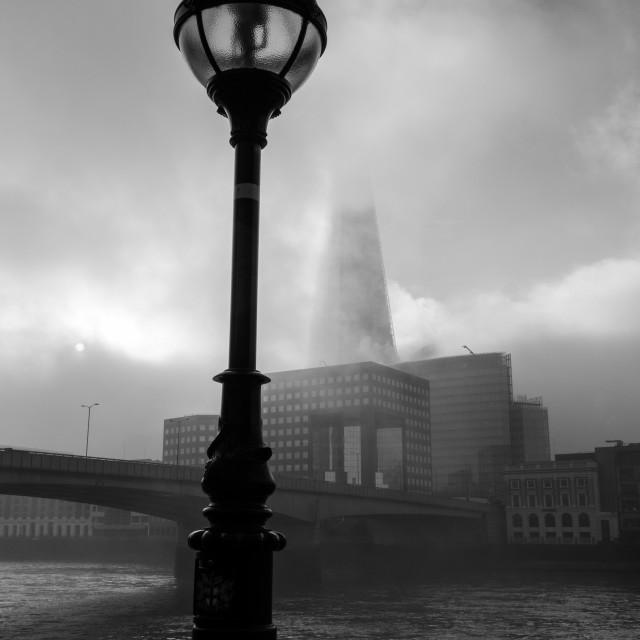 """Foggy Thames"" stock image"
