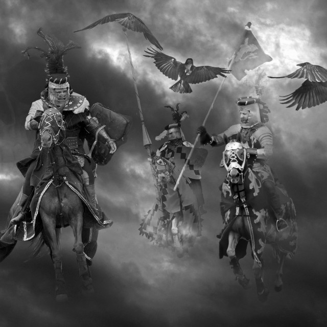 """Night of the Crows"" stock image"