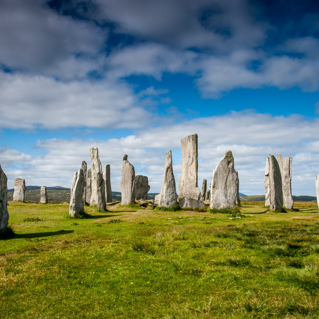 """The Standing Stones of Callanish"" stock image"