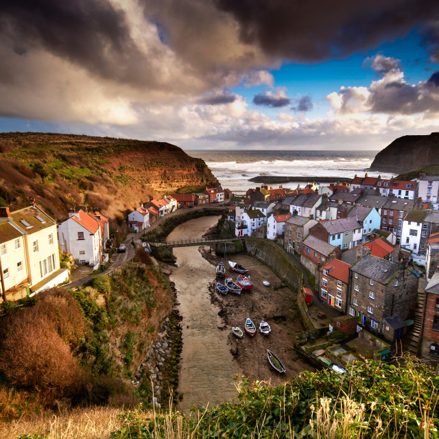 """""""Staithes, Yorkshire"""" stock image"""