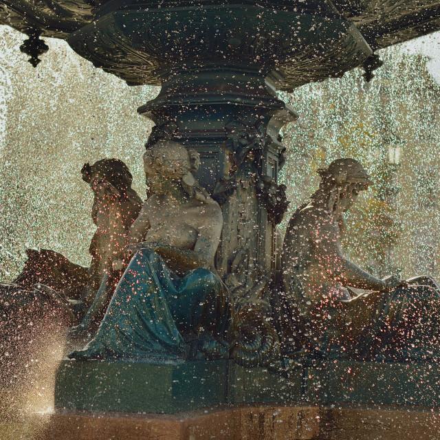 """Sunlit fountain 1"" stock image"