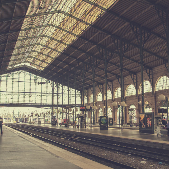 """Gare du Nord"" stock image"