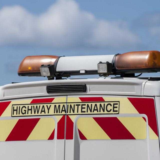 """Highway maintenance"" stock image"