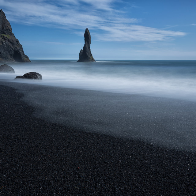"""Reynisdrangar sea stacks"" stock image"