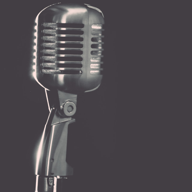 """Retro Mic"" stock image"