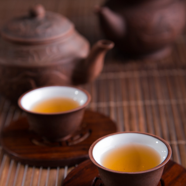 """""""Chinese teapot and teacups"""" stock image"""