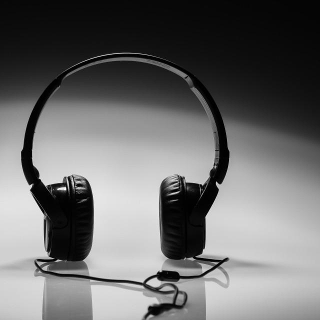 """""""Black headphones"""" stock image"""