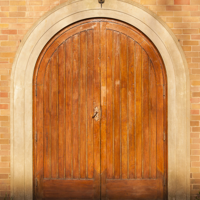 """""""Doors Double Arched"""" stock image"""