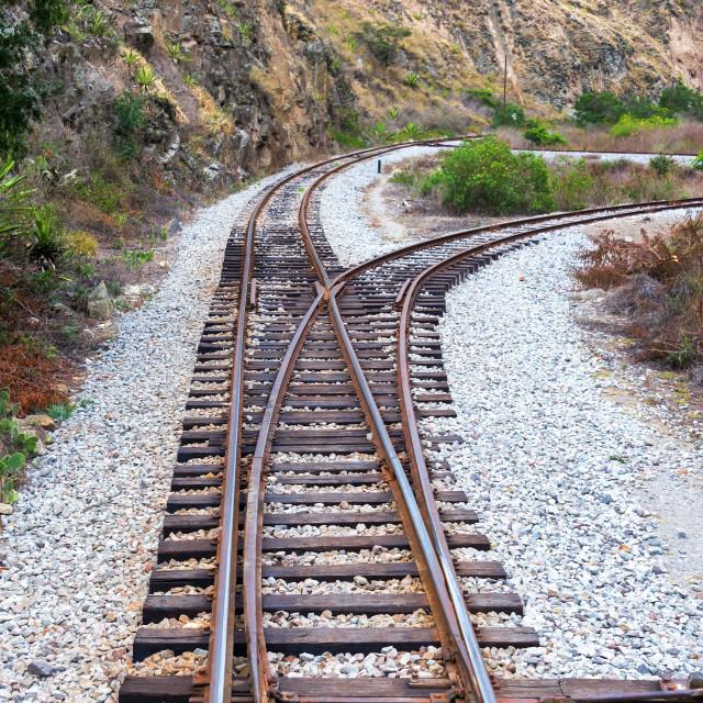 """Ecuador Train Tracks"" stock image"