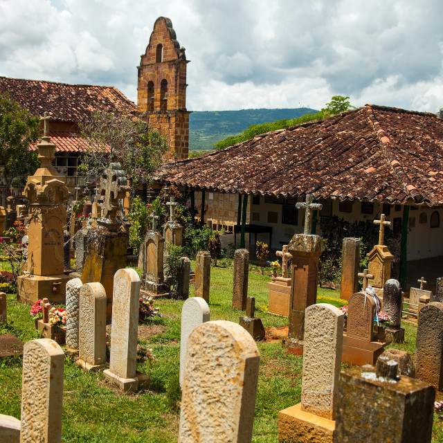 """""""Tombstones in a Cemetery"""" stock image"""
