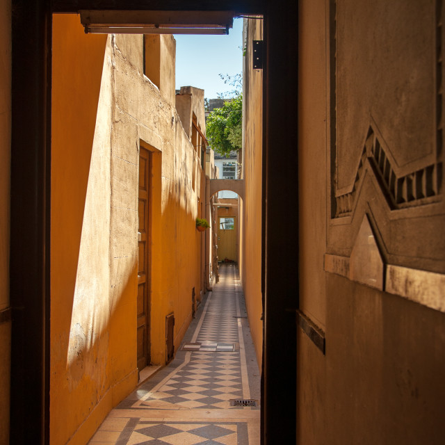 """Old Hallway in Buenos Aires"" stock image"