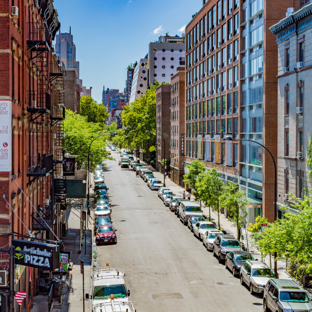 """""""A HighLine View"""" stock image"""