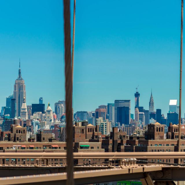 """From Brooklyn Bridge"" stock image"