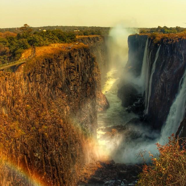 """Rainbow Point - Victoria Falls"" stock image"