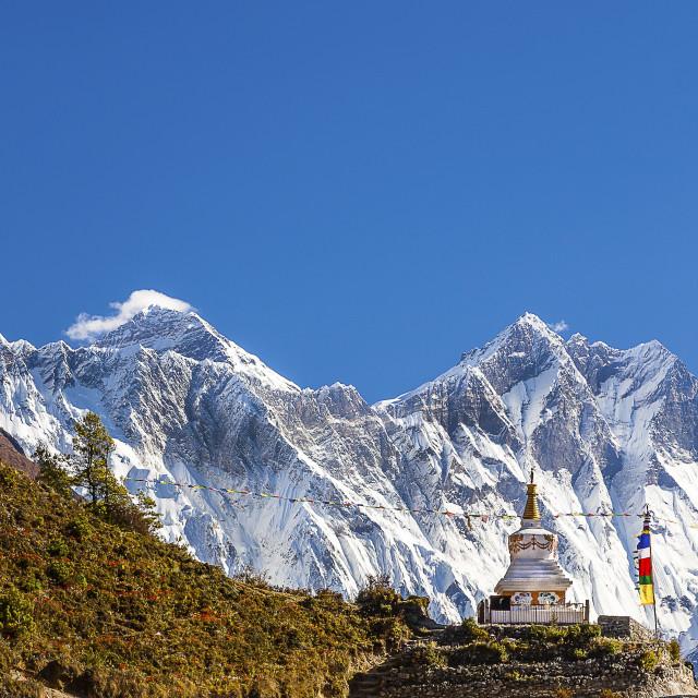 """Mountain Stupa-Everest Region"" stock image"
