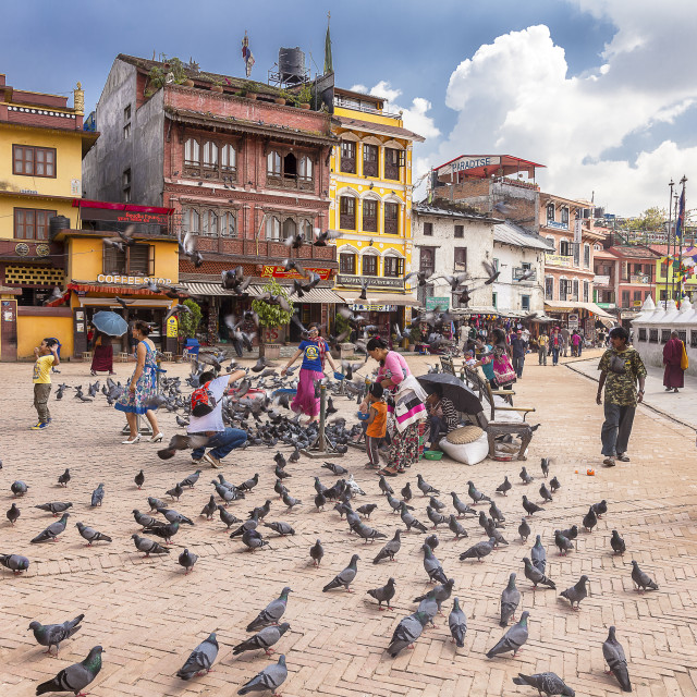 """Boudhanath Square-Kathmandu"" stock image"