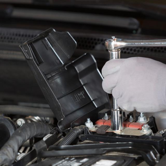 """Car mechanic"" stock image"