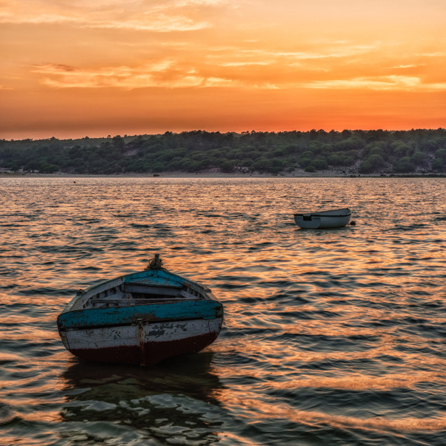 """Portugal sunset"" stock image"