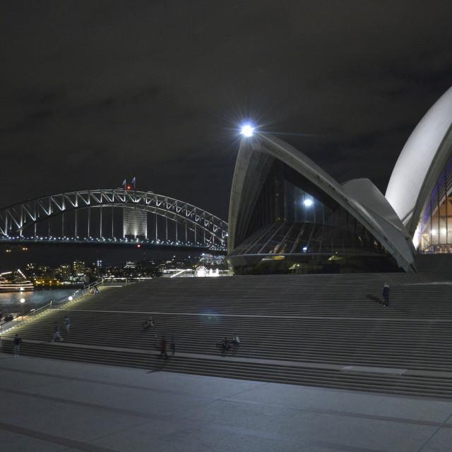 """Sydney Harbour Bridge with Sydney Opera House"" stock image"