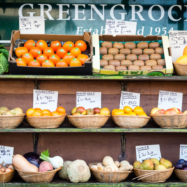 """Greengrocers"" stock image"