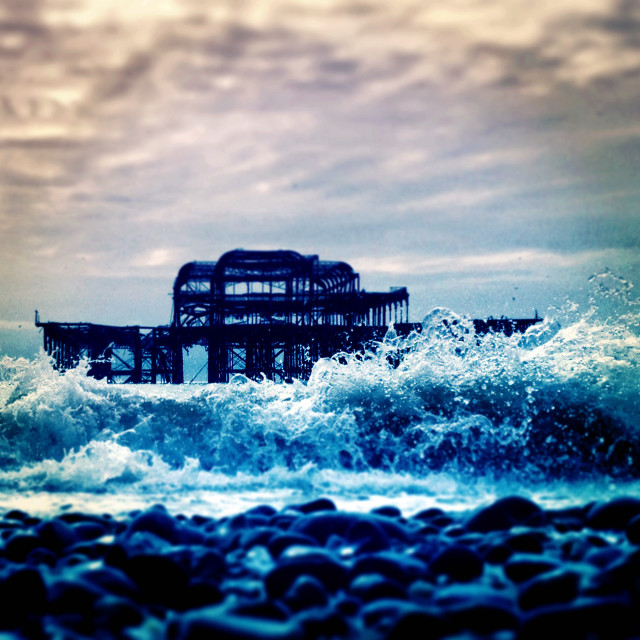 """west pier splash"" stock image"