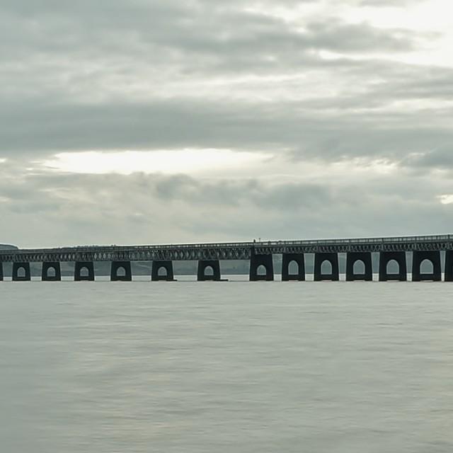 """Tay Rail Bridge"" stock image"