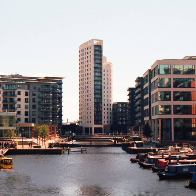 """Leeds Dock on film"" stock image"