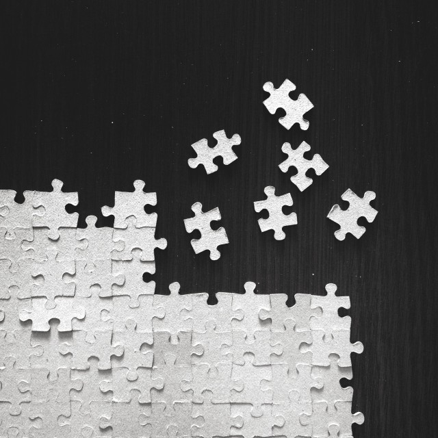 """""""Incomplete jigsaw"""" stock image"""