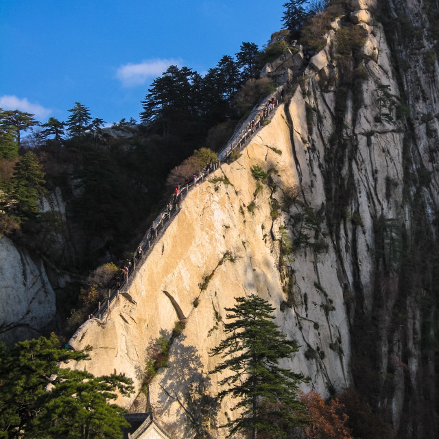 """Steep ascent on Mount Huashan near Xi'an, China"" stock image"