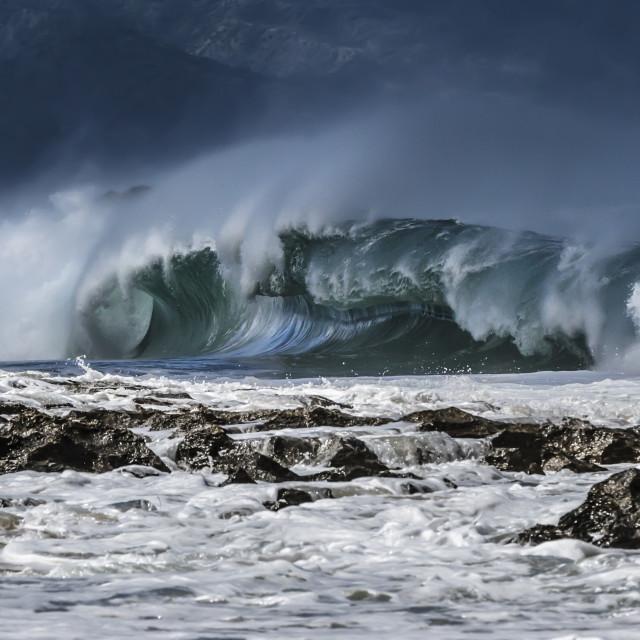 """Shore break wave"" stock image"