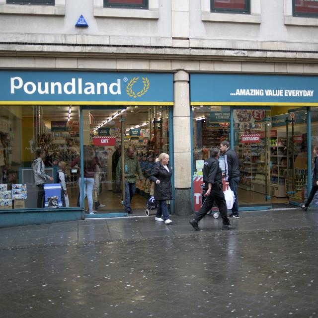 """Poundland Superstore"" stock image"