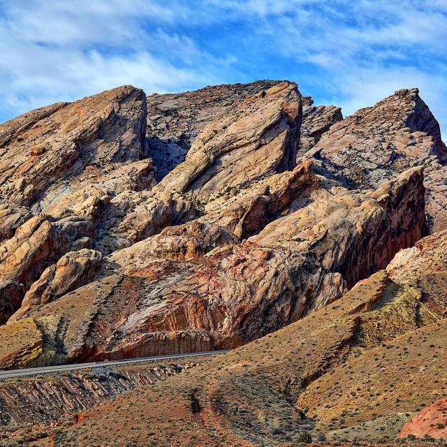 """""""Utah rocky pass"""" stock image"""