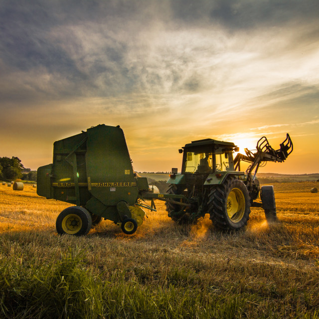 """German farmer off to work"" stock image"