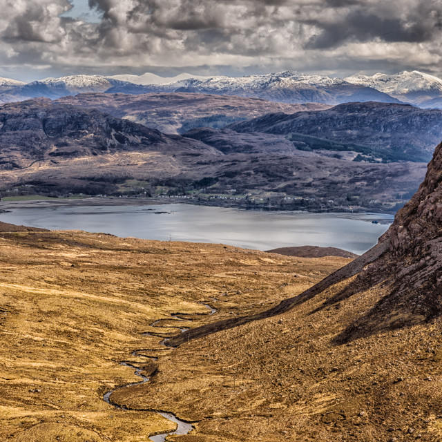 """Applecross pass"" stock image"