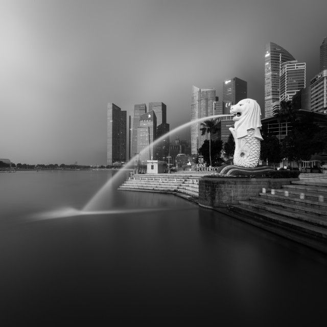 """Merlion Park, Singapore"" stock image"