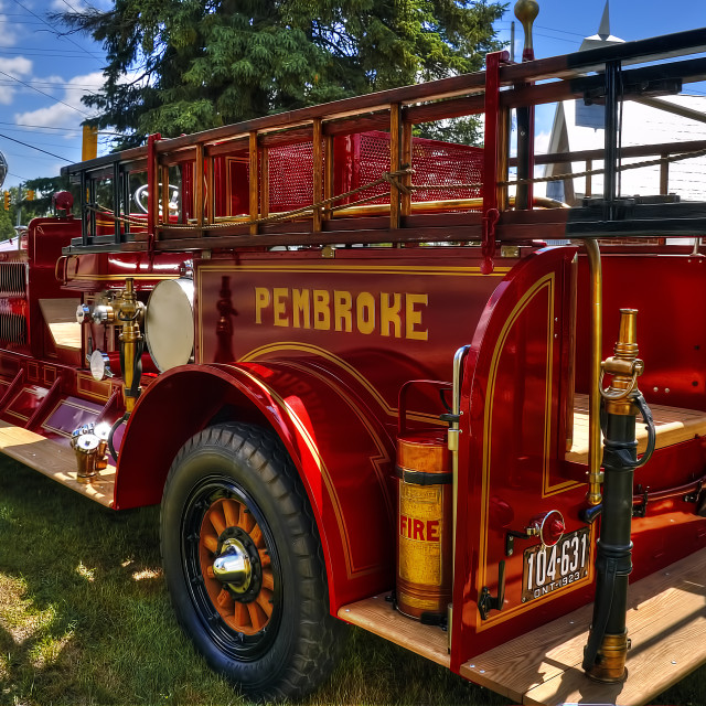 """Vintage Fire Truck"" stock image"