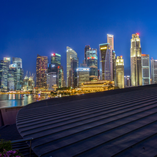 """Singapore city center"" stock image"