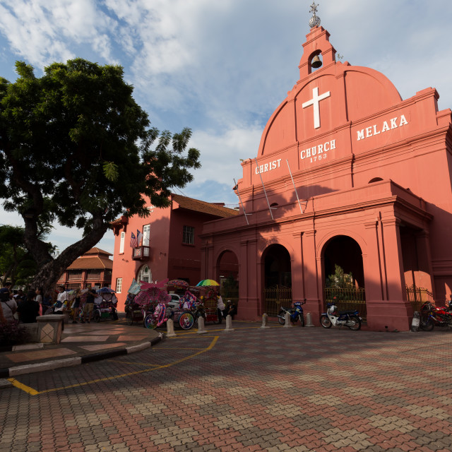 """Red Church in Malacca"" stock image"