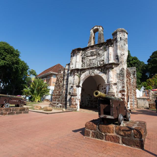 """""""A Famosa, Malacca Malaysia"""" stock image"""