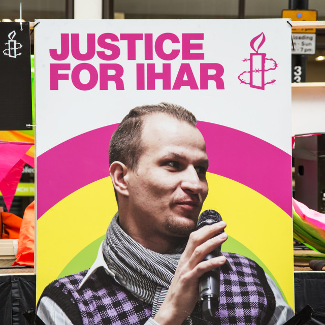 """""""Justice For Ihar"""" stock image"""