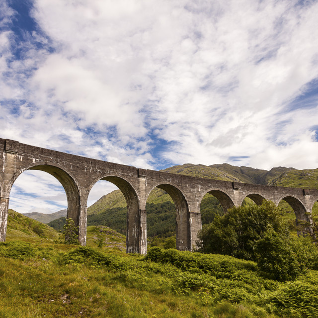 """The Glenfinnan Viaduct"" stock image"