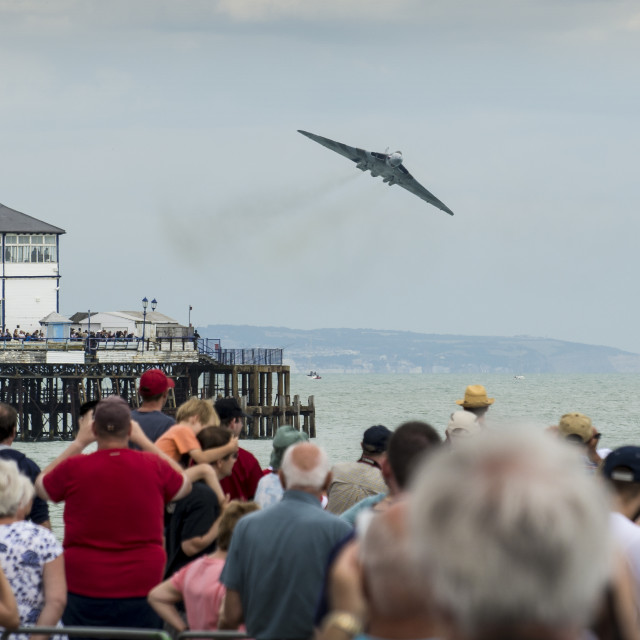"""Vulcan passing Eastbourne Pier"" stock image"