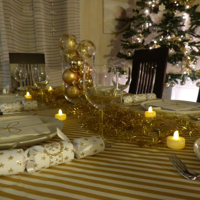 """""""Christmas table"""" stock image"""