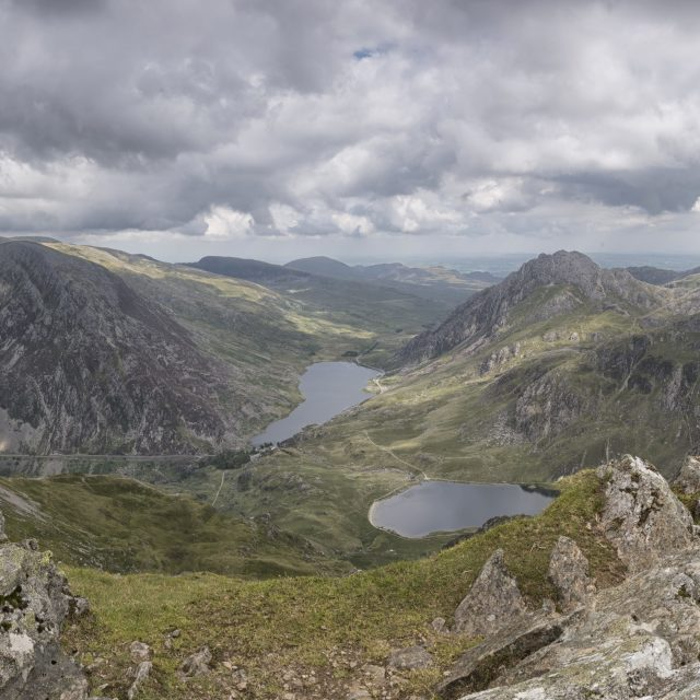 """The Ogwen Valley, Snowdonia, North Wales"" stock image"