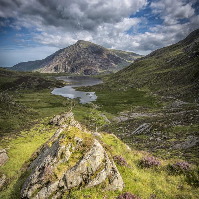"""""""Pen yr ole wen, Snowdonia, North Wales"""" stock image"""