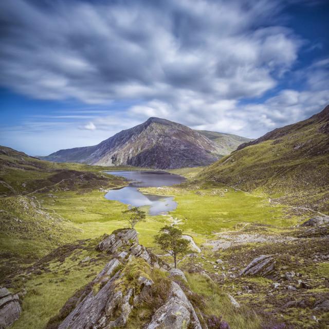"""""""Pen yr ol wen, Snowdonia, North Wales"""" stock image"""