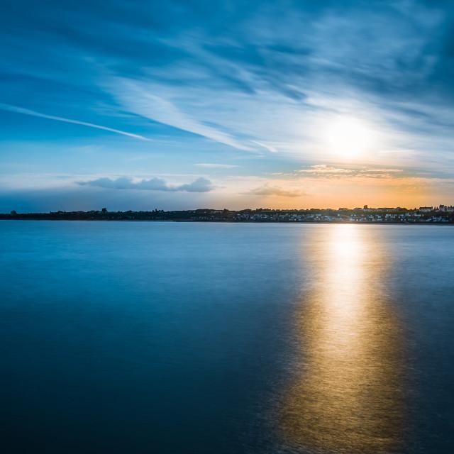 """Sunset Towards Frinton And Walton"" stock image"