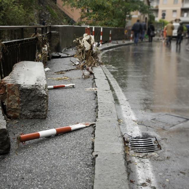 """""""Flood in Genova"""" stock image"""