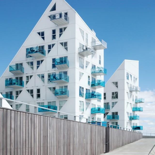 """Iceberg building in Aarhus, Denmark"" stock image"